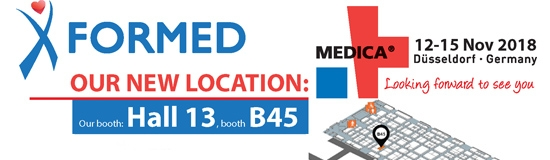 We invite you to visit our booth at Medica 2018 - Formed